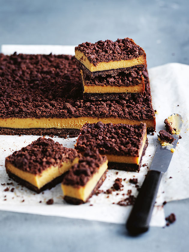 TRUE CROWD PLEASER CHOCOLATE CARAMEL CRUMBLE SLICE