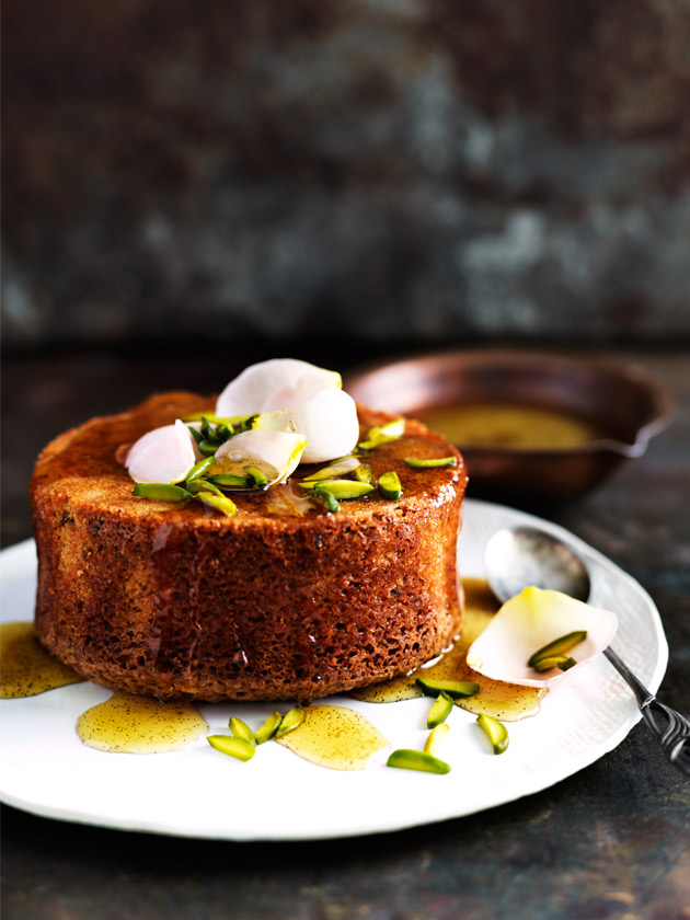 Pistachio and rosewater cakes