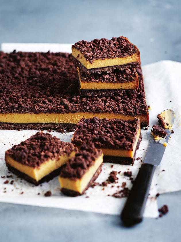Chocolate Caramel Crumble Slice