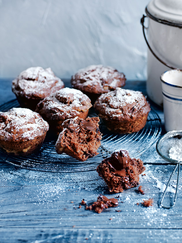 Chocolate banana and coconut muffins donna hay chocolate banana and coconut muffins ccuart Images