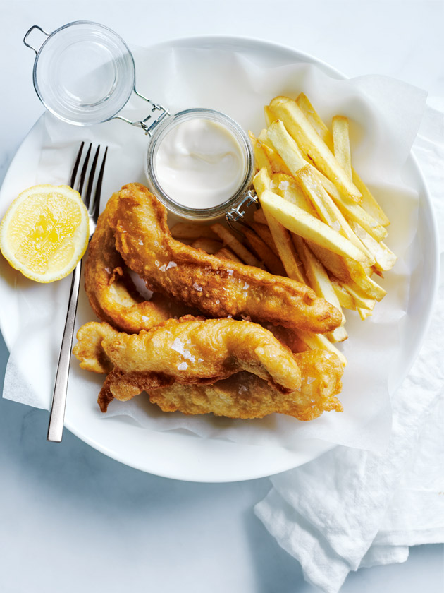 Beer battered fish and chips donna hay for Beer batter fish and chips