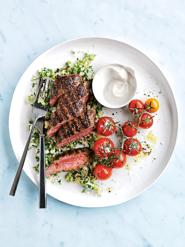 Grilled Sumac Lamb With Couscous Tabouli
