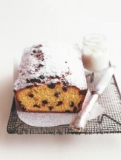 cranberry, coconut and orange bread with yoghurt