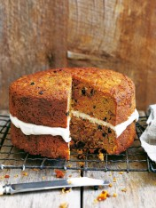 carrot and coconut cake with ricotta icing