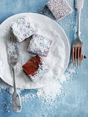 cheat's choc-hazelnut lamingtons