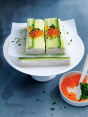 crab and cucumber sandwiches