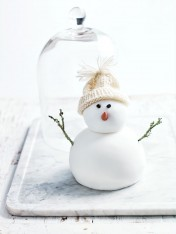 christmas pudding snowman