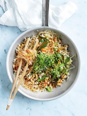 lemongrass fish larb noodles with chilli dressing