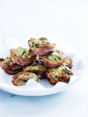 pancetta, zucchini and feta muffins
