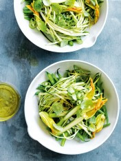 zucchini, bean and green chilli slaw