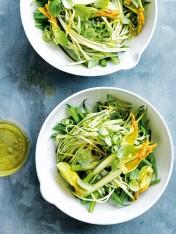 zucchini, bean and green chilli slaw