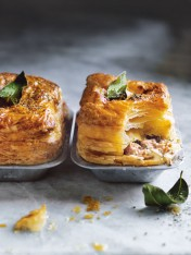 almond-milk-braised pork pies with caramelised fennel