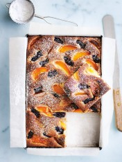 apricot and blackberry cake