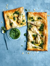 artichoke, pesto and brie tarts