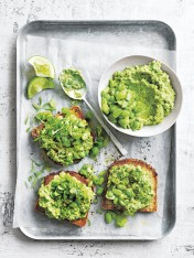 avocado and edamame smash