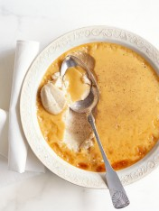 baked spiced custard