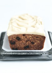 banana and date bread with maple cream cheese icing