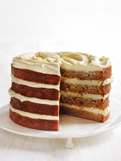 banana layer cake with cream cheese icing