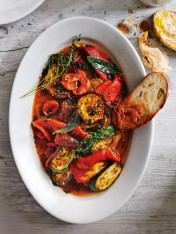 braised chilli and tomato eggplant