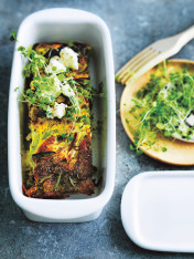 broccoli, goat's cheese and tarragon frittata