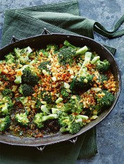 broccoli with lemon butter and thyme breadcrumbs