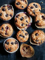 buckwheat and quinoa blueberry muffins