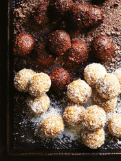 coconut and salted caramel bliss balls