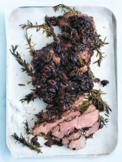 caramelised onion and olive roasted lamb