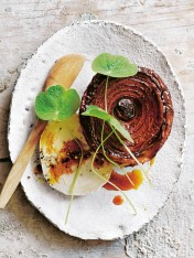 caramelised vincotto onion tarte tatin