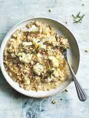 cauliflower and celeriac brown rice risotto