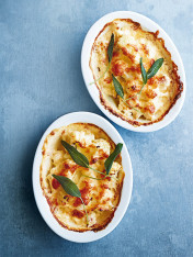 cauliflower, sage and cheddar gratin