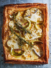 cauliflower, white anchovy and rosemary tart
