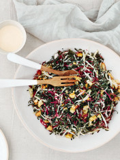 cavolo nero and radicchio slaw with pine nut pangritata