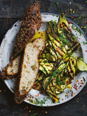 chargrilled zucchini with garlic and lemon