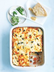 cheat's spinach, ricotta and pumpkin lasagne