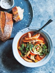 chicken minestrone with zucchini noodles