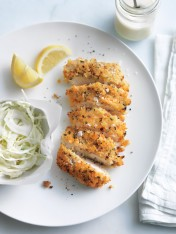 thyme and chilli chicken schnitzels