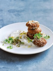 chickpea and caramelised onion falafels