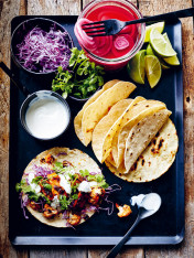chipotle chicken and cauliflower tacos