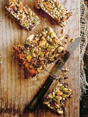 choc-nut and chia seed slice