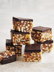 CHOCOLATE PEANUT SLICE