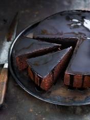 Chocolate espresso syrup cake