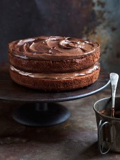 Cacao mousse layer cake