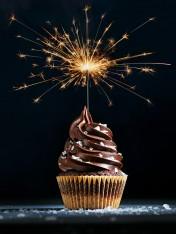 chocolate salted caramel swirl cupcakes