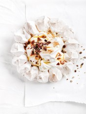 cinnamon and candied pecan pavlova
