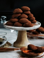 cocoa-dusted coffee cookies