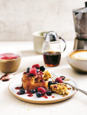 coconut and oat french toast