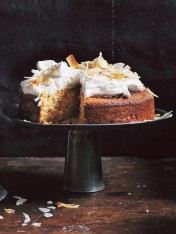 coconut cake with whipped coconut icing