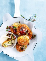 coriander and chilli crab cakes