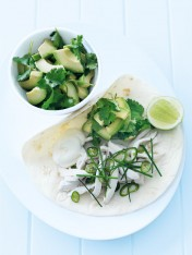 coriander and lime chicken tortillas